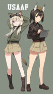 Carla j luksic and geena preddy strike witches and world witches series drawn by shimada fumikane