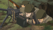 Liberion soldiers in a foxhole