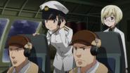 B-17 crew with Mio and Ursula