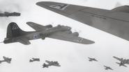 B-17 bombers in the fog