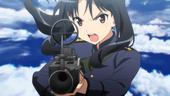 Shizuka preparing to fire