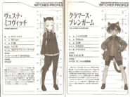Brave Witches LN 507th Profiles of Micovic and Kullimas