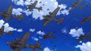 B-17 bomber formation on the way to Berlin