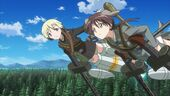 Strike Witches Movie Erica and Gertrud patrol