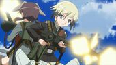 Erica firing her MG 42 in the movie