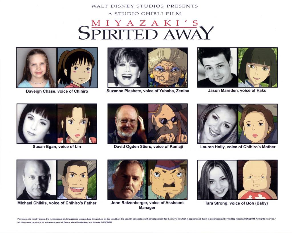 Spirited Away Voice Actors Ghibli Wiki Fandom