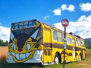 Catbus at Totoro Pass in Fukagawa, Hokkaido