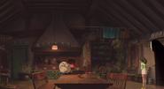 Chihiro in Zeniba's house