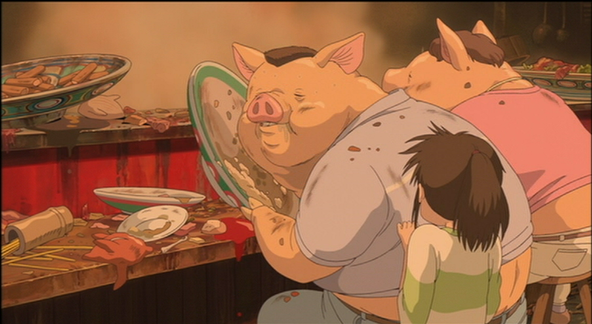 Chihiro sees parents transformed the pig.png