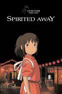 El viaje de Chihiro póster inglés