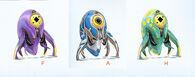 Trivalve creature concept