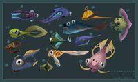 -Subnautica Generic Fauna- Concept Studies-