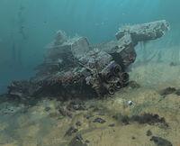 Crashed ship site 11 detailed