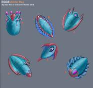 Arctic Ray Egg Designs