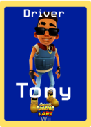 Subway Surfers Kart Wii Tony Trading Card