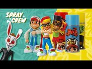 NEW! Sub Surf Spray Crew - Collectible figures & display can - Alpha Group x SYBO x Toys R Us Canada
