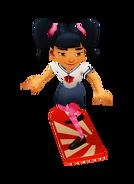 Harumi with Fortune Board