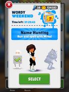 WordyWeekend-SelectingMina