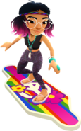 Jenny Surfing On The Groovy Board