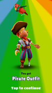 Unlocking Pirate Outfit