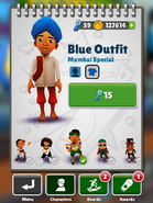 Jay blue outfit
