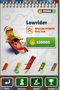 Lowrider Menu