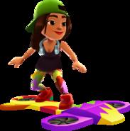 Sofia Surfing on the Splash Board