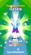 Getting Diamond Medal in the Indonesia Top Run