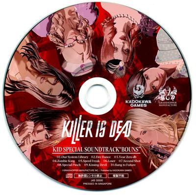 "KILLER IS DEAD KID SPECIAL SOUNDTRACK ""BOUNS"""