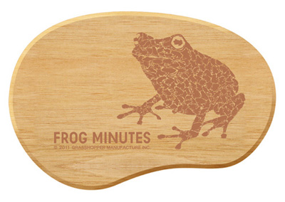 FROG MINUTES Rubber Wood Mouse Pad