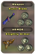 Weapon and Armor Menu Listing