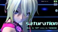 60fps Full風 saturation - Hatsune Miku 初音ミク Project DIVA Arcade English lyrics Romaji subtitles