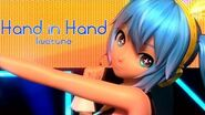 1080P Full風 Hand in Hand - Hatsune Miku 初音ミク Project DIVA Arcade English lyrics Romaji subtitles