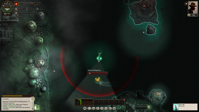 Combat encounter with an Auroral Megalops.