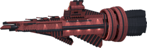 Red with three guns, but not three times as fast as a Cruiser...