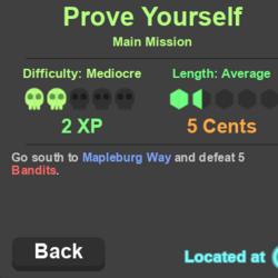 Prove Yourself (Main Mission)