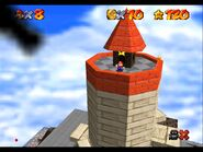 Super Mario 64 Whomps Fortress tower 2