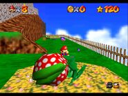 Super Mario 64 Whomps Fortress sleeping Piranha Plant