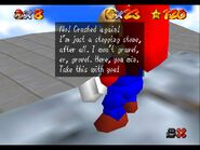 Super Mario 64 Whomps Fortress Whomp King defeated
