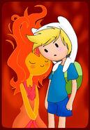 Flame princess and finn by cris uchiha-d4ul6d8