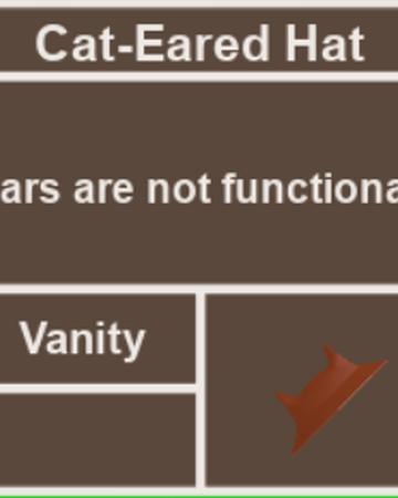 Roblox Cube Hat Cat Eared Hat Super Cube Cavern Wiki Fandom