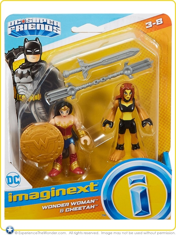 Wonder Woman & Cheetah (Imaginext - DC Super Friends figures)