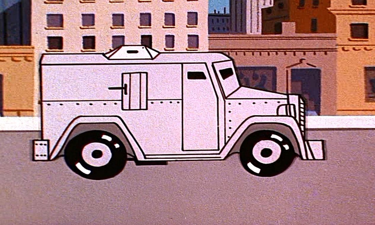 Armored truck carrying jewels