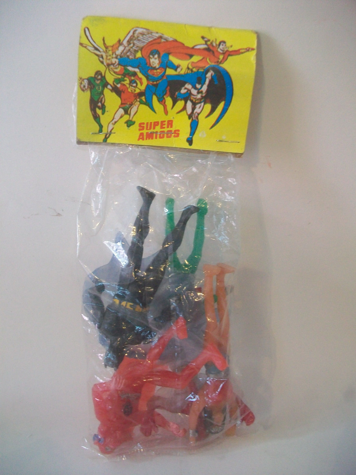 Flash, Batman, Spider-Man, Wonder Woman and Green Lantern (Super Powers figures)