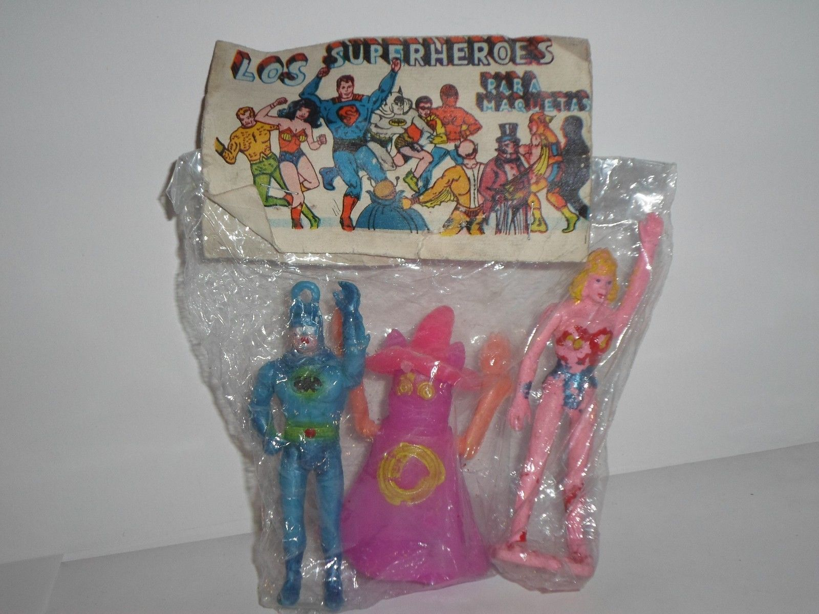 Batman, Orko and Wonder Woman (Super Powers figures)