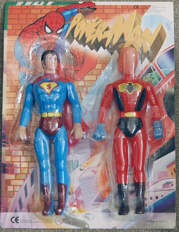 Superman and Spider-Man (Power-Man figures)