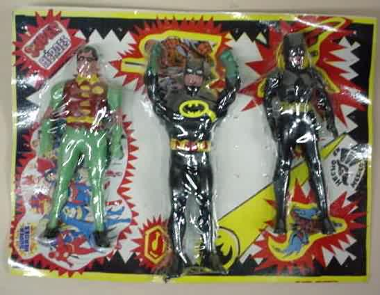 Robin, Batman and Catwoman (Super Powers figures)