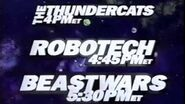 Toonami Lineup Bumper with ThunderCats, Robotech, and Beast Wars (1998)