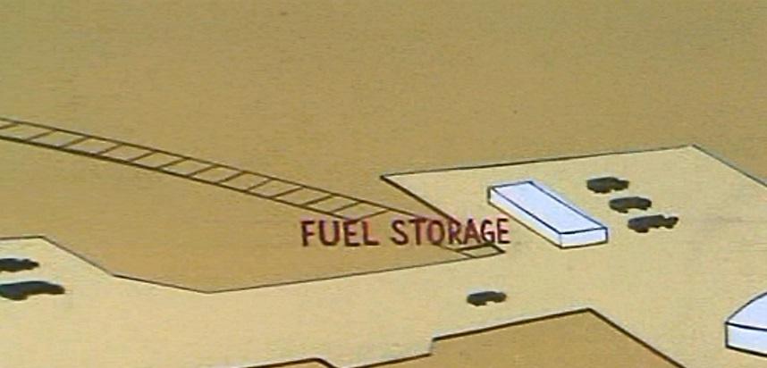 Mars fuel storage