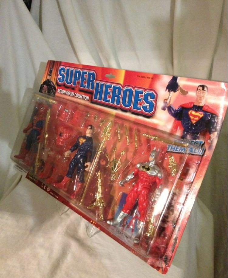 Spider-Man, Superman and Batman (Super Heroes Action Figure Collection)
